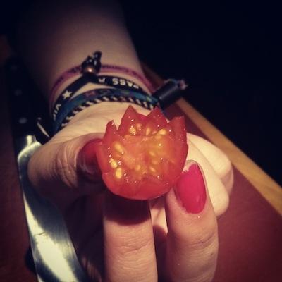 Je sais faire les tomates en étoile ! La classe ou la classe ? ^_^